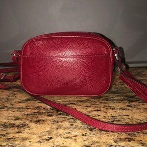 Brighton Bags - Brighton Mona mini camera bag (Red leather)